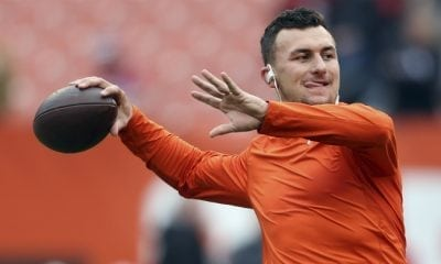 QB Johnny Manziel worked out with Tiger-Cats team